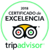 Certificate of excellence on TripAdvisor 2015, 2016 and 2018