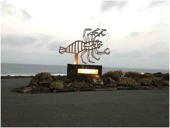 El cangrejo de los Jameos del agua