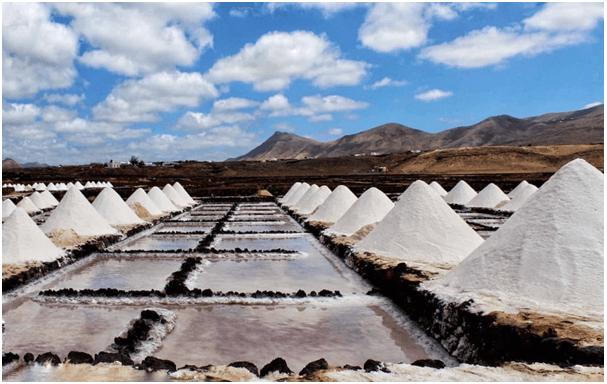 Las Salinas de Janubio en Timanfaya