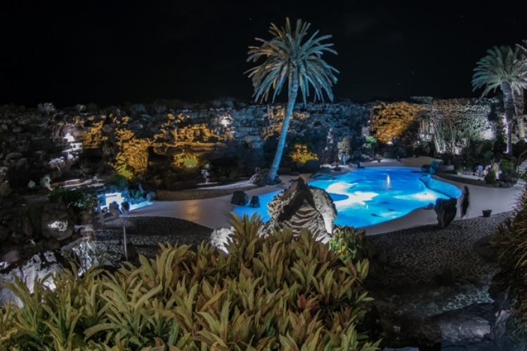 An evening in Jameos del Agua