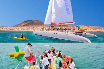 Excursión a La Graciosa en Catamarán